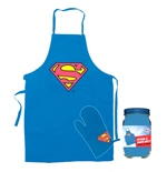 Superman cooking apron with oven mitt Logo