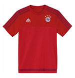 2015-2016 Bayern Munich Adidas Training Tee (Red) - Kids