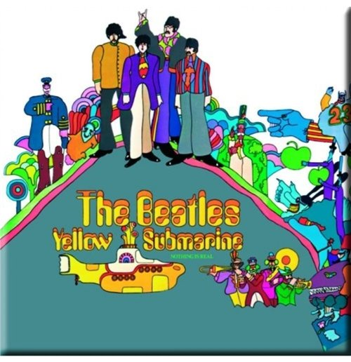 The Beatles Metal Magnet - Yellow Submarine Album Cover