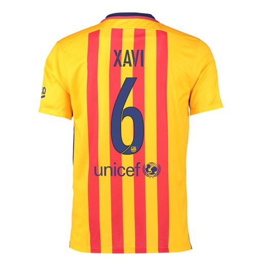 2015-16 Barcelona Away Shirt (Xavi 6) - Kids