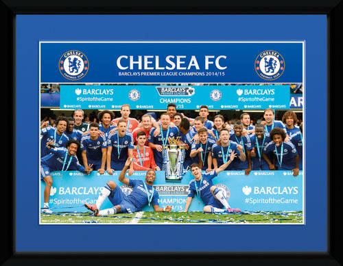 Chelsea Premier League Winners 14/15 Framed Collector Print