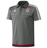 2015-2016 Bayern Munich Adidas Polo Shirt (Ash Grey)