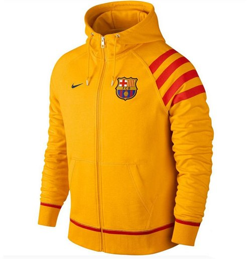Buy 2015-2016 Barcelona Nike AW77 Authentic Full Zip Hoody (Gold) 61cacdb78c8