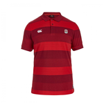 2015-2016 England Rugby Stripe Pique Polo Shirt (Red)