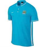 2015-2016 Man City Nike Authentic League Polo Shirt (Blue)