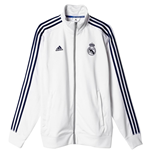 2015-2016 Real Madrid Adidas 3S Track Top (White)