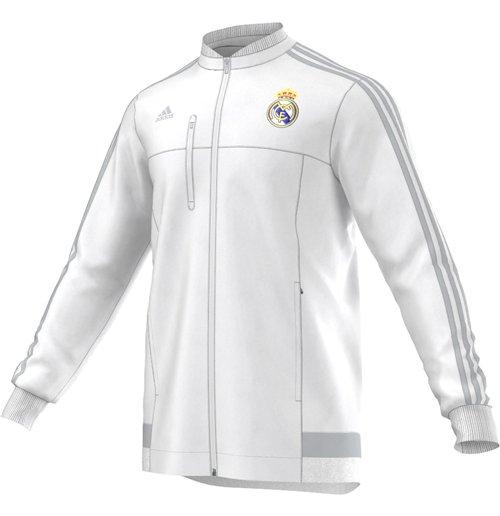 2015 2016 Real Madrid Adidas Anthem Jacket (White) Kids