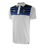 2015-2016 Tottenham Striped Polo Shirt (White)