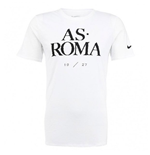 2015-2016 AS Roma Nike Core Type Tee (White)