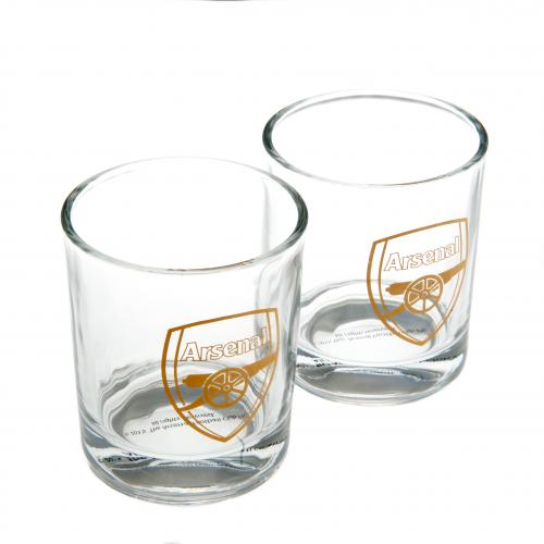 Arsenal F.C. 2pk Whiskey Glass Set