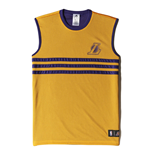 2015 LA Lakers Adidas Summer Run Reversible Tank Top (Yellow)