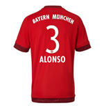 2015-16 Bayern Munich Home Shirt (Alonso 3) - Kids