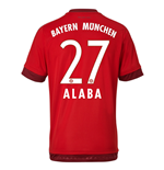 2015-16 Bayern Munich Home Shirt (Alaba 27) - Kids