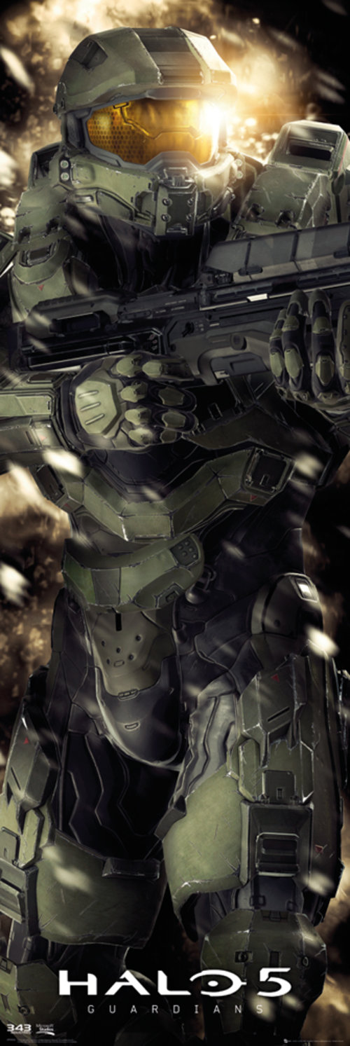 Halo 5 Masterchief Door Poster