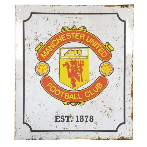 Manchester United F.C. Retro Logo Sign