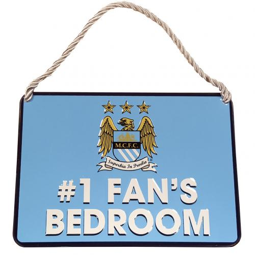 Manchester City F.C. Bedroom Sign No1 Fan