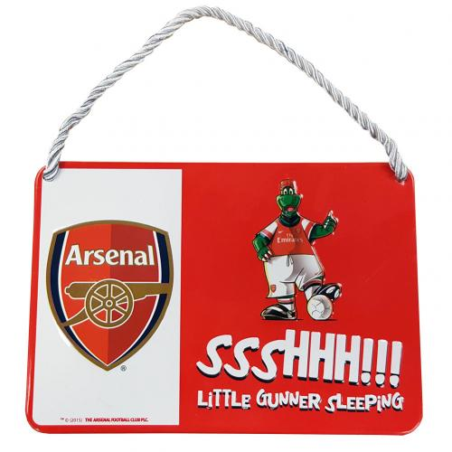 Arsenal F.C. Bedroom Sign Mascot