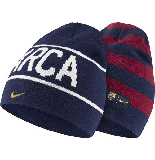 c55bbd3ee4d Buy Official 2014-2015 Barcelona Nike Reversible Beanie (Navy-Red)