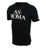 2015-2016 AS Roma Nike Core Type Tee (Black)