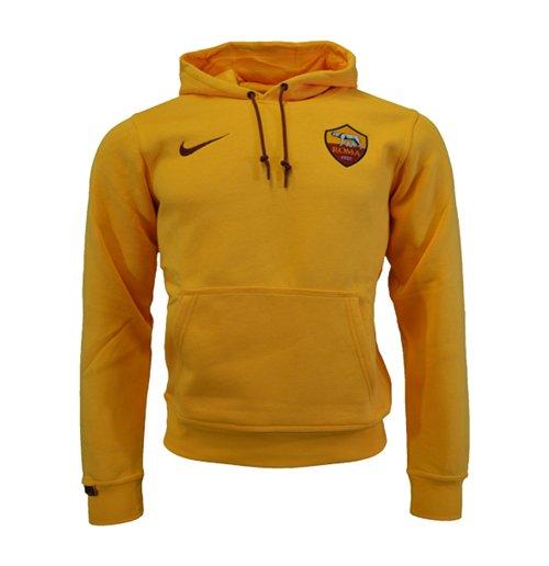 2015-2016 AS Roma Nike Core Hooded Top (Orange)