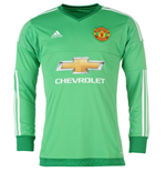 2015-2016 Man Utd Adidas Home Goalkeeper Shirt
