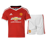 2015-2016 Man Utd Adidas Home Little Boys Mini Kit