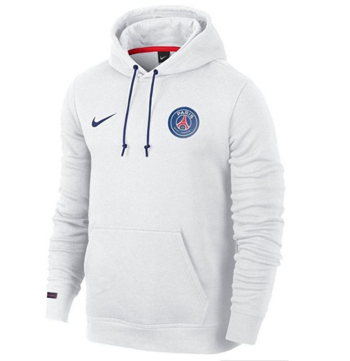 designer fashion 54c34 a4ab6 2015-2016 PSG Nike Core Hooded Top (White)