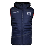 2015-2016 Scotland Macron Rugby Padded Gilet (Navy)