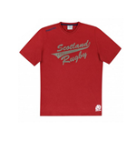 2015-2016 Scotland Macron Rugby Cotton Leisure Tee (Red)