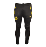 2015-2016 Borussia Dortmund Puma T7 Track Pants with Pockets (Black)