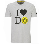 2015-2016 Borussia Dortmund Puma Graphic Tee (Grey) - Kids