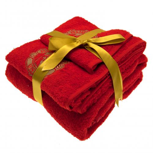 Manchester United F.C. 3 Piece Towel Set