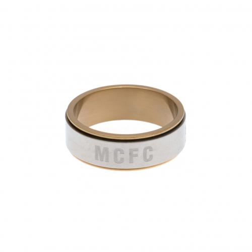 Manchester City F.C. Bi Colour Spinner Ring Medium