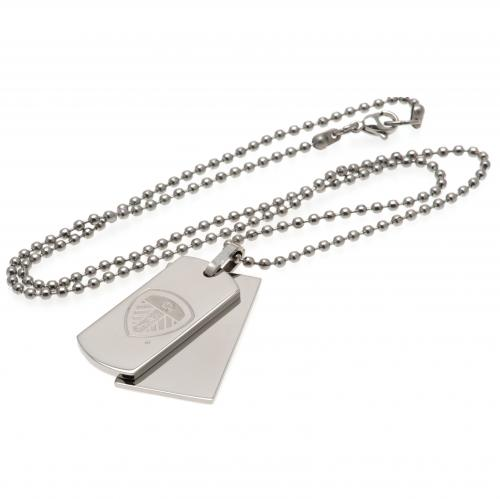Leeds United F.C. Double Dog Tag & Chain