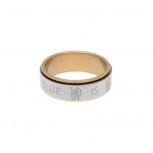 Chelsea F.C. Bi Colour Spinner Ring X-Small