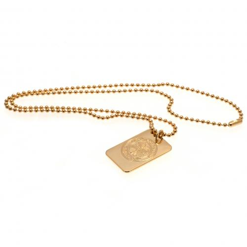 Celtic F.C. Gold Plated Dog Tag & Chain