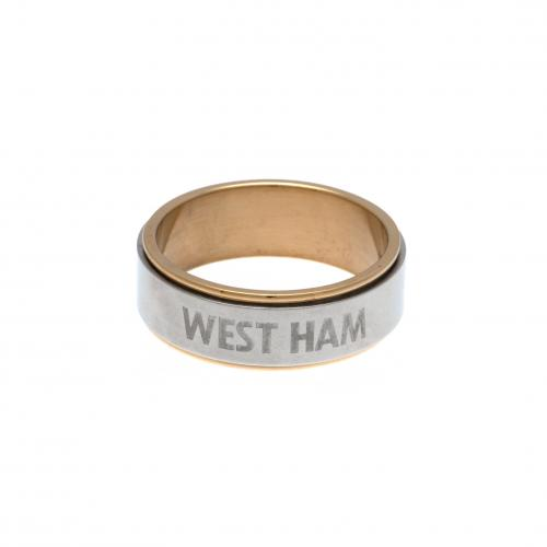 West Ham United F.C. Bi Colour Spinner Ring X-Large