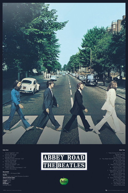 The Beatles Abbey Road Tracks Maxi Poster