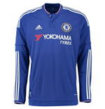 2015-2016 Chelsea Adidas Home Long Sleeve Shirt (Kids)