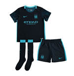 2015-2016 Man City Away Nike Little Boys Mini Kit