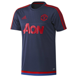 2015-2016 Man Utd Adidas Training Shirt (Dark Blue)