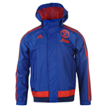 2015-2016 Man Utd Adidas Allweather Jacket (Royal Blue)