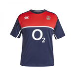 2015-2016 England Rugby Poly Training Tee (Navy)