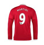 2015-2016 Man Utd Long Sleeve Home Shirt (Martial 9)