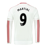 2015-2016 Man Utd Long Sleeve Away Shirt (Martial 9)