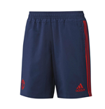 2015-2016 Man Utd Adidas Woven Shorts (Dark Blue)