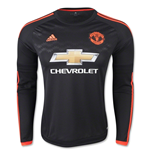 2015-2016 Man Utd Adidas Third Long Sleeve Shirt (Kids)