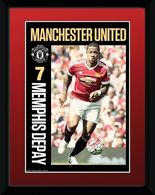 Manchester United Depay 15/16 Framed Collector Print