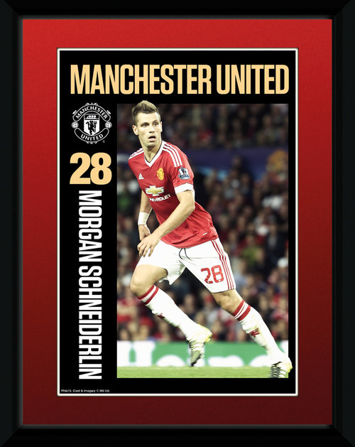 Manchester United Schneiderlin 15/16 Framed Collector Print
