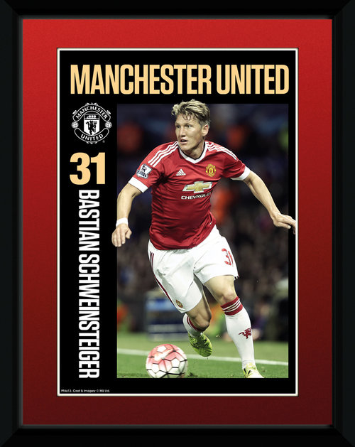 Manchester United Scweinsteiger 15/16 Framed Collector Print